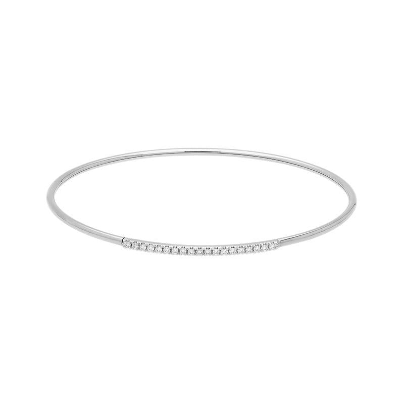 18ct White Gold 0.18ct Diamond Bangle