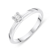 00165366 W Hamond 18ct White Gold 0.19ct Brilliant Cut Diamond Solitaire Ring BLC-093