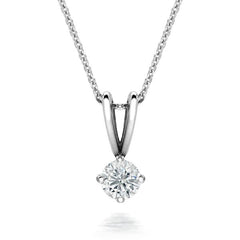 18ct White Gold 0.25ct Diamond Brilliant Cut Solitaire Necklace