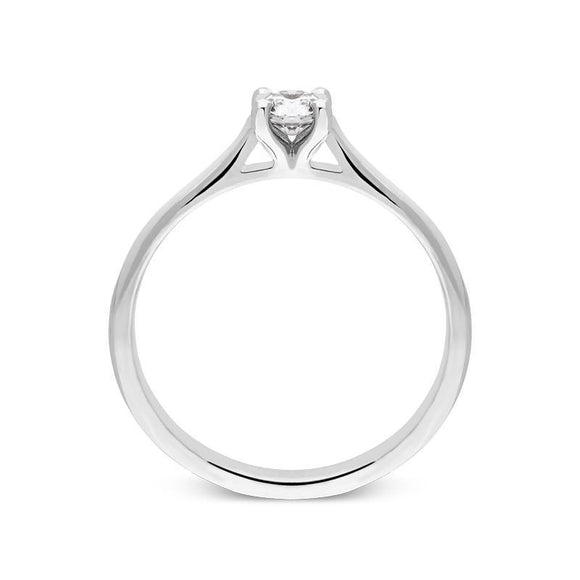 18ct White Gold 0.26ct Diamond Brilliant Cut Solitaire Ring, R1129.