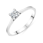 00160274 W Hamond 18ct White Gold 0.26ct Diamond Brilliant Cut Solitaire Ring, R1129.