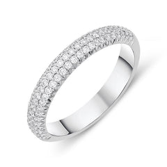18ct White Gold 0.52ct Diamond Half Eternity Ring
