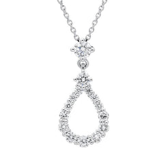 18ct White Gold 0.59ct Diamond Necklace