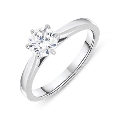18ct White Gold 0.71ct Diamond Brilliant Cut Solitaire Ring