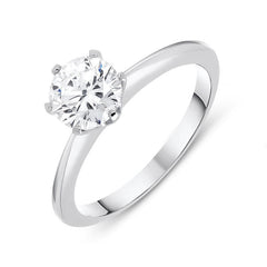 18ct White Gold 1.00ct Diamond Brilliant Cut Solitaire Ring
