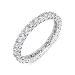 18ct White Gold 1.03ct Diamond Full Eternity Ring