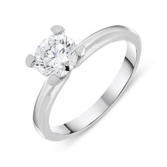 18ct White Gold 1.05ct Diamond Brilliant Cut Solitaire Ring