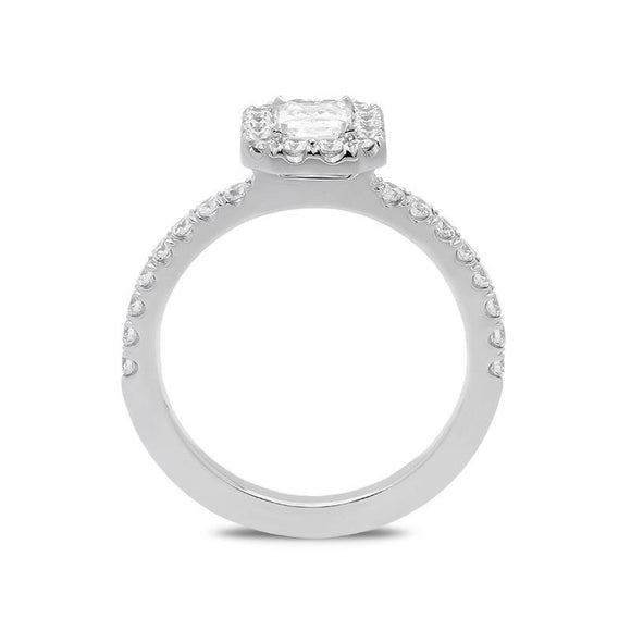 18ct White Gold 1.05ct Diamond Halo Ring BLC-072