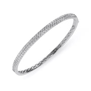 18ct White Gold 1.87ct Diamond Bangle, G00190.