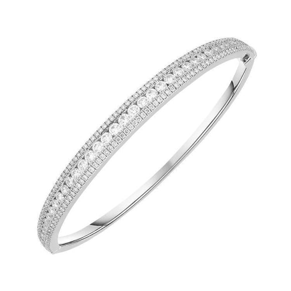 18ct White Gold 2.79 Carat Diamond Bangle. FEU-027