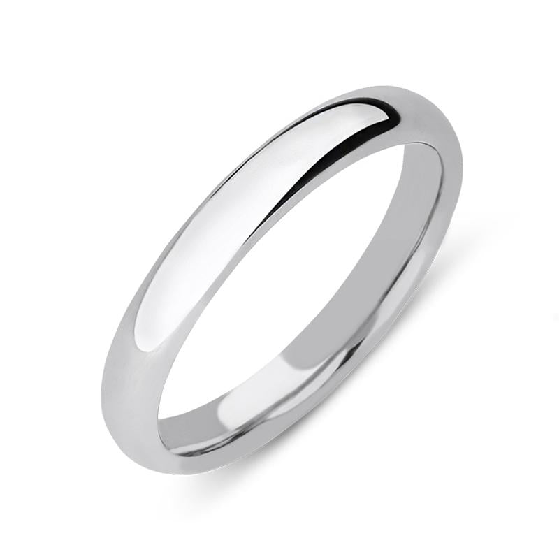 18ct White Gold Classic Court Wedding Ring