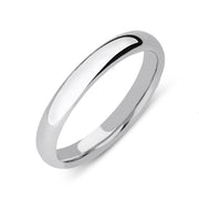18ct White Gold Classic Court Wedding Ring. CGN-050.