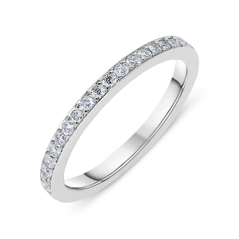 18ct White Gold Diamond Brilliant Cut Eternity Ring