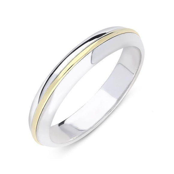 18ct White and Yellow Gold Wedding Ring, CGN-371.