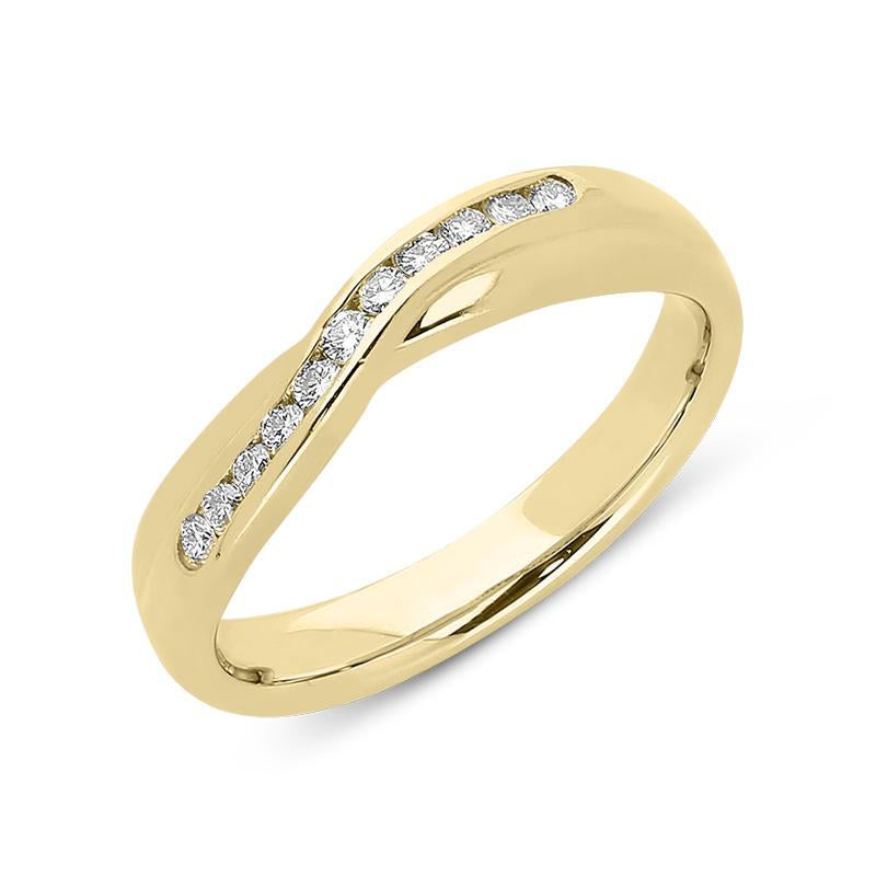 18ct Yellow Gold 0.17ct Diamond Set Wedding Ring