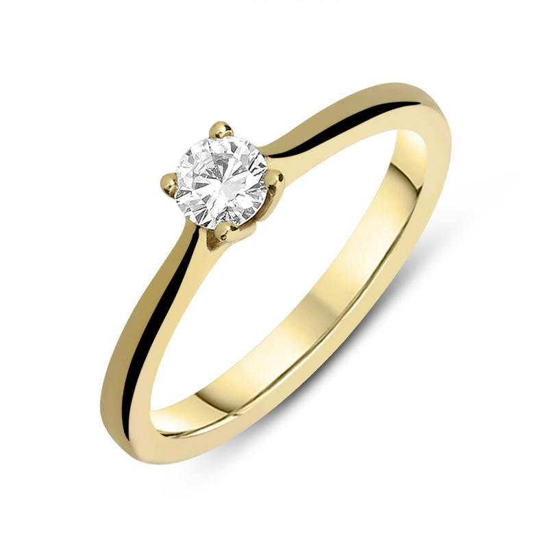 18ct Yellow Gold 0.28ct Diamond Solitaire Ring