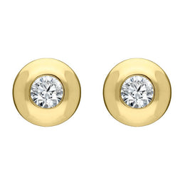 00065307 W Hamond 18ct Yellow Gold 0.30ct Diamond Solitaire Stud Earrings, E234B1.