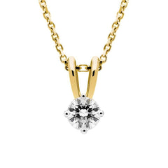 18ct Yellow Gold 0.40ct Diamond Brilliant Cut Solitaire Necklace