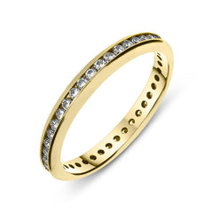 18ct Yellow Gold 0.40ct Diamond Channel Set Eternity Ring
