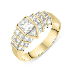 18ct Yellow Gold 0.47ct Quadrillion Diamond Ring