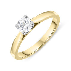 18ct Yellow Gold 0.50ct Diamond Brilliant Cut Solitaire Ring