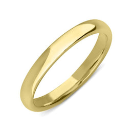18ct Yellow Gold 2.5mm Light Court Shape Wedding Ring. CGN-125.