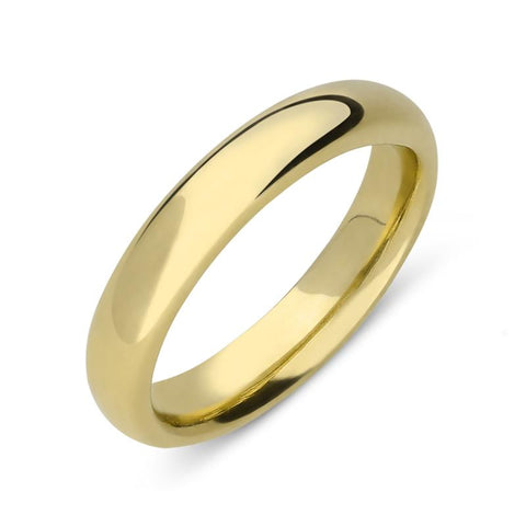 18ct Yellow Gold 3.5mm Light Court Shape Wedding Ring