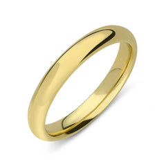 18ct Yellow Gold 3mm Light Court Shape Wedding Ring