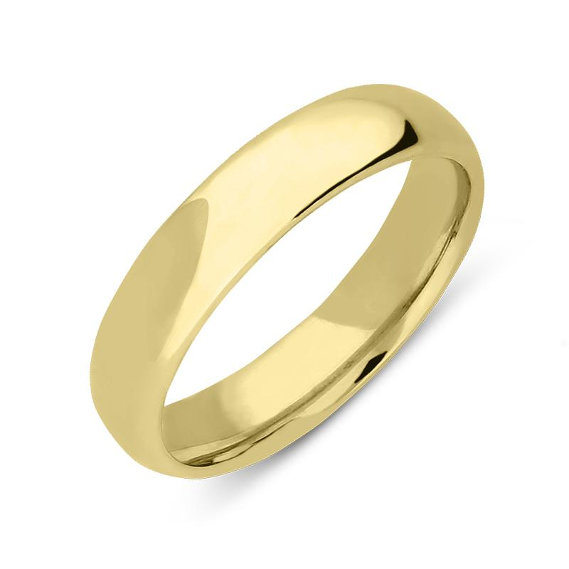 18ct Yellow Gold 4mm Court Shape Wedding Ring