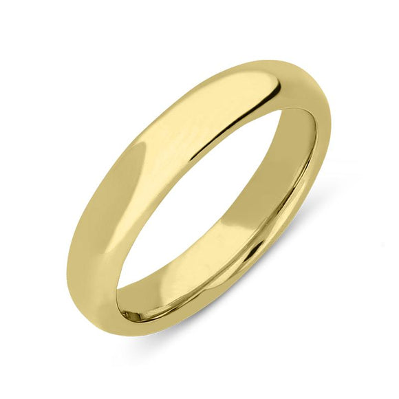 18ct Yellow Gold 5mm Court Shape Wedding Ring, CGN-136.