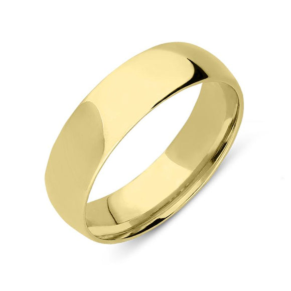 18ct Yellow Gold 6mm Court Shape Wedding Ring, CGN-174.