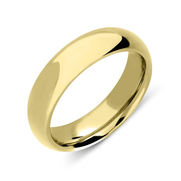 18ct Yellow Gold 6mm Court Shape Wedding Ring, CGN-237.
