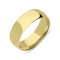 18ct Yellow Gold 8mm Court Shape Wedding Ring