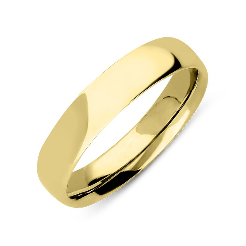 18ct Yellow Gold Classic Court Shape Wedding Ring