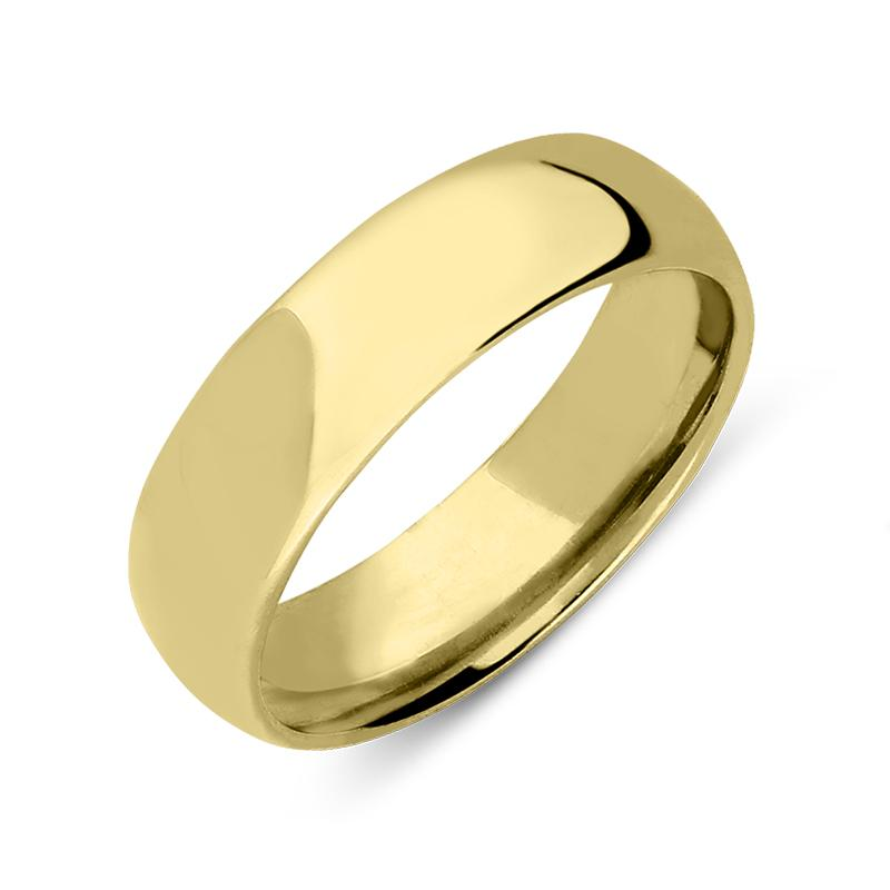 18ct Yellow Gold Classic Court Shaped Wedding Ring