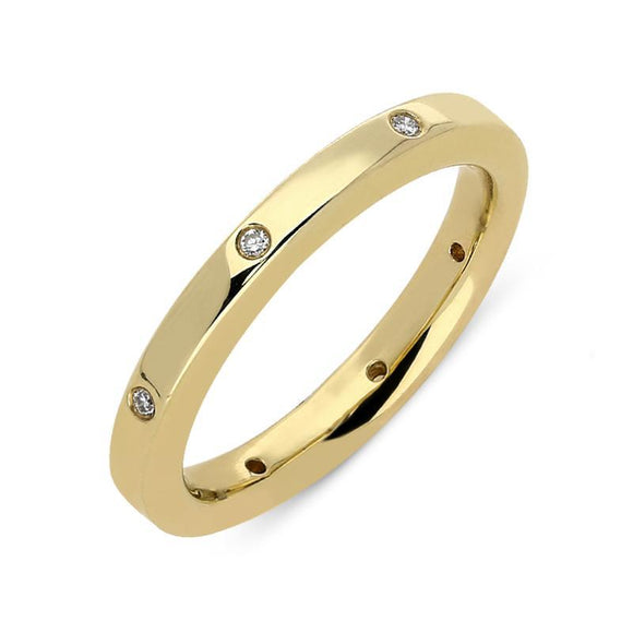 00000423 W Hamond 18ct Yellow Gold Diamond Wedding Ring, CGN-325