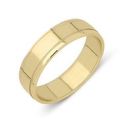 18ct Yellow Gold Dipped Edge Wedding Ring