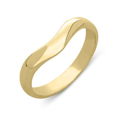 18ct Yellow Gold Wishbone Wedding Ring