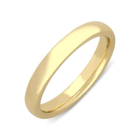 22ct Yellow Gold 3mm Court Shape Wedding Ring