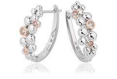 Clogau Celebration Sterling Silver White Topaz Hoop Earring