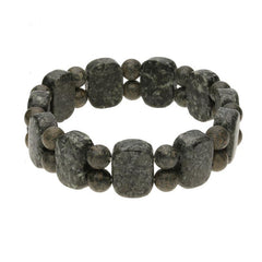 Preseli Bluestone Cushion and Bead Stretch Bracelet