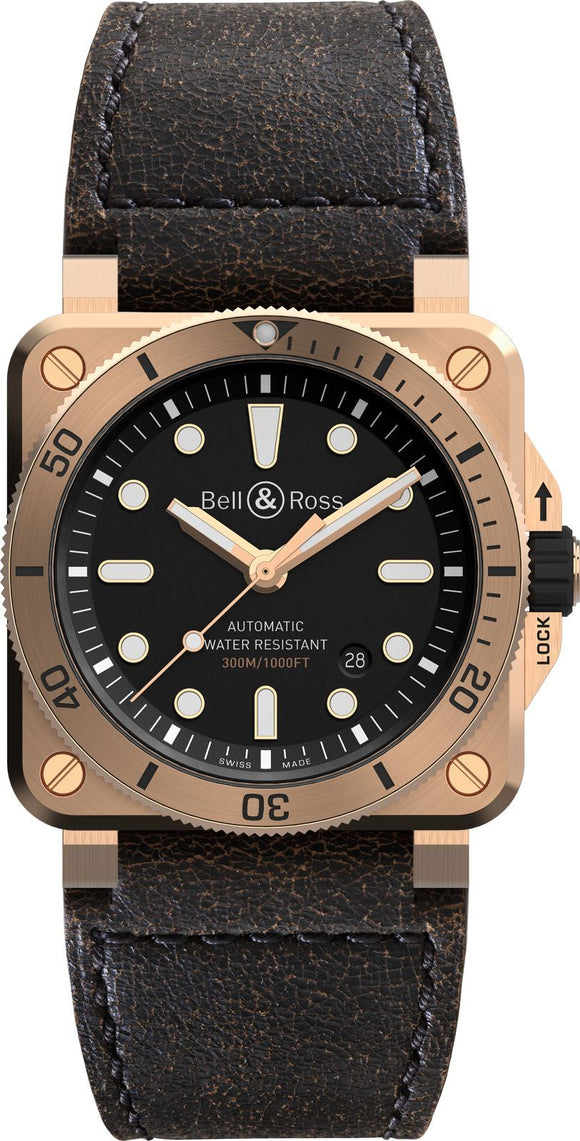 Bell & Ross Watch BR 03 92 Diver Bronze Limited Edition BR0392-D-BL-BR/SCA