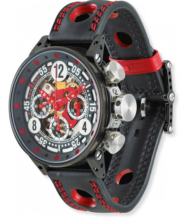 B.R.M. Watches V12-44 Sport Red Hands V12-44-SPORT-AR