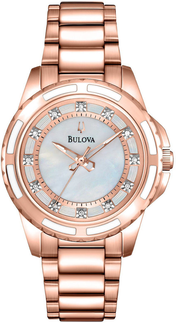 Bulova Watch Diamonds 98P141