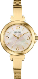 Bulova Watch Dress Gold IP Bangle 97L136