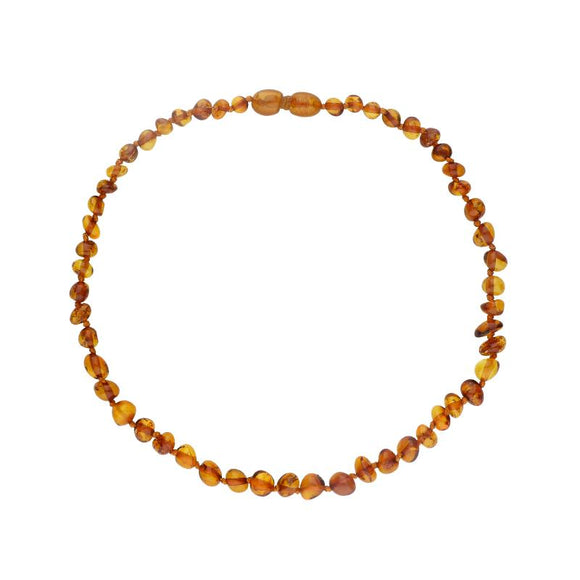 00157566 W Hamond Baltic Amber Small Dark Beaded Baby Teething Necklace. N1034