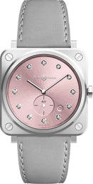 Bell & Ross Watch Novarosa Diamonds BRS-PK-ST-DIA/SCA