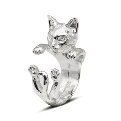Cat Fever Sterling Silver Bengal Hug Ring