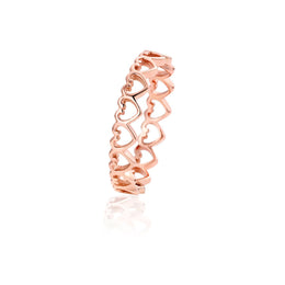 Clogau Affinity Rose Gold Heart Stacking Ring EH07