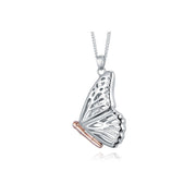Clogau Butterfly Sterling Silver Large Locket, 3SBWLP.